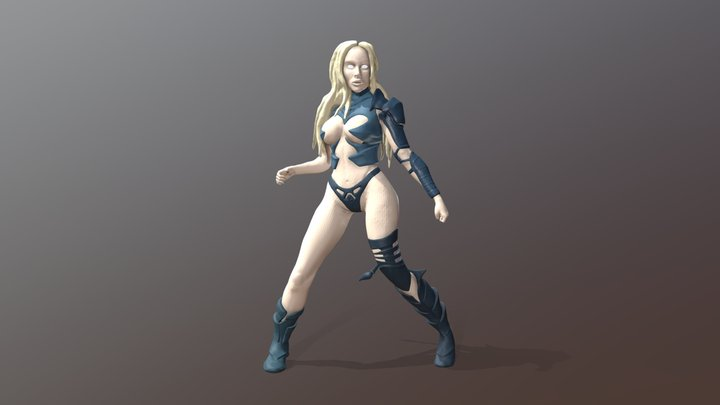 Natalie Cyber-Cat 3D Model