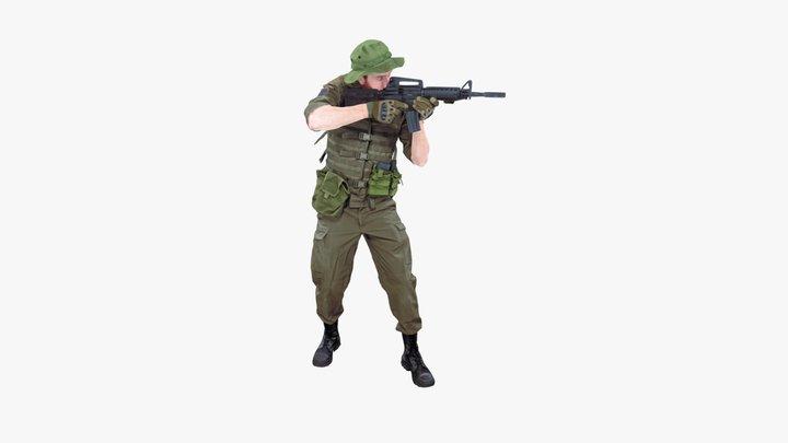 Soldier Standing 3D Model