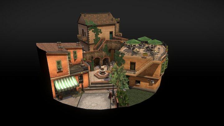 Cityscene Riomaggiore 3D Model