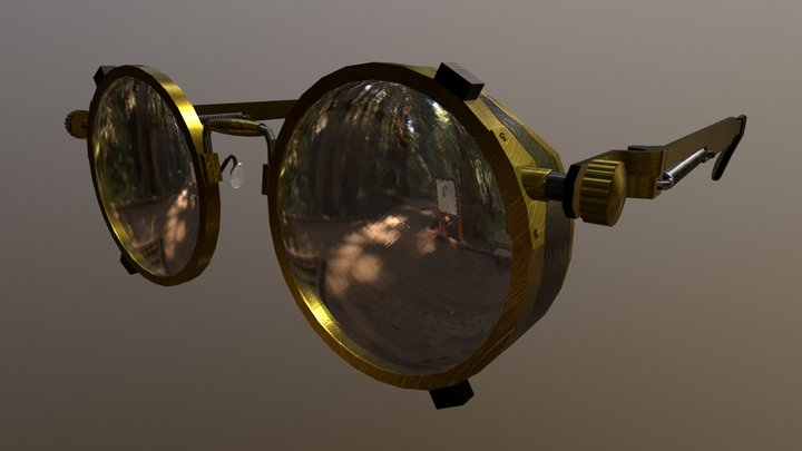 Steam Punk Style Sunglasses 3D Model