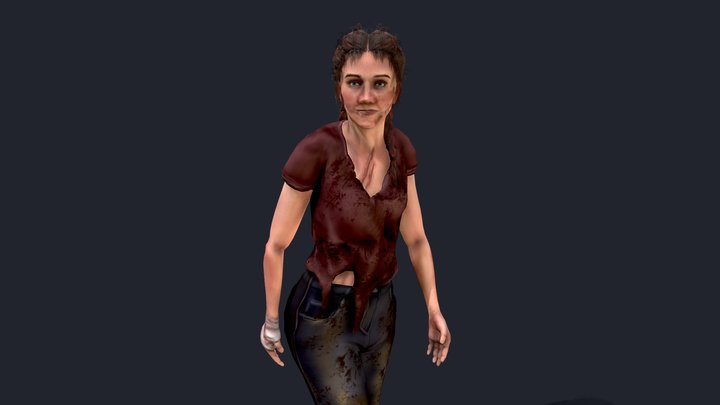 Female Survival Character 3D Model