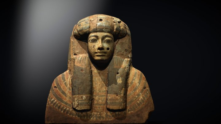 Face from Egyptian Coffin 3D Model