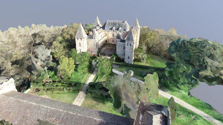 CHATEAU DE CAUMONT ET SON PARC By DEXAN - Drone 3D Model