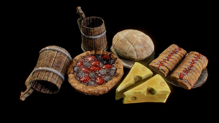 Food Medieval Bakery Goods 3D Model