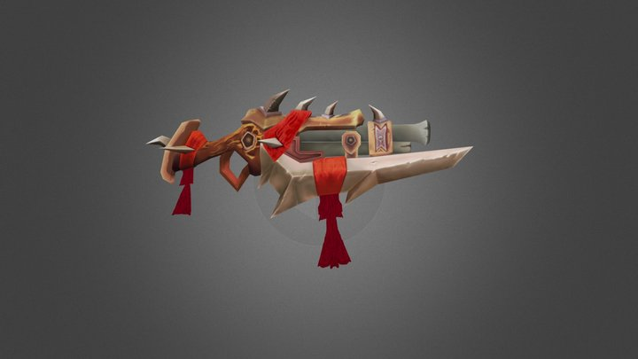 Low-poly Rifle  cataclysm world of warcraft 3D Model