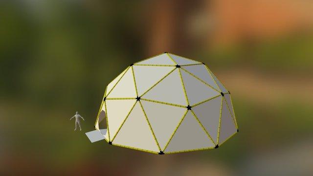48ft V2 Bamboo Dome 3D Model