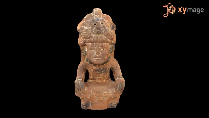 Antique mayan Statuette 3D Model