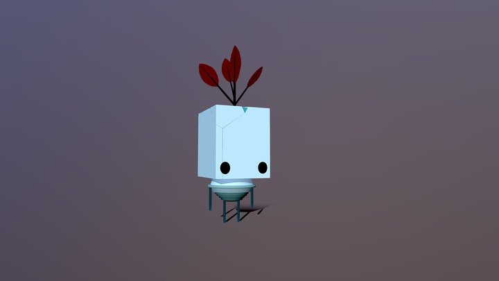 Cube Guy from Gris 3D Model