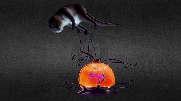 Otter's reach for the Water Pumpkin 3D Model
