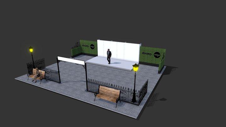 Dscoop 2020 Theater Area V2 3D Model