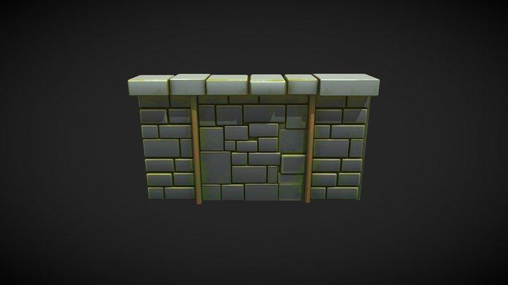 Stone Wall 2 3D Model