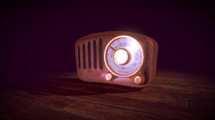 QKa Retro FM Radio 3D Model