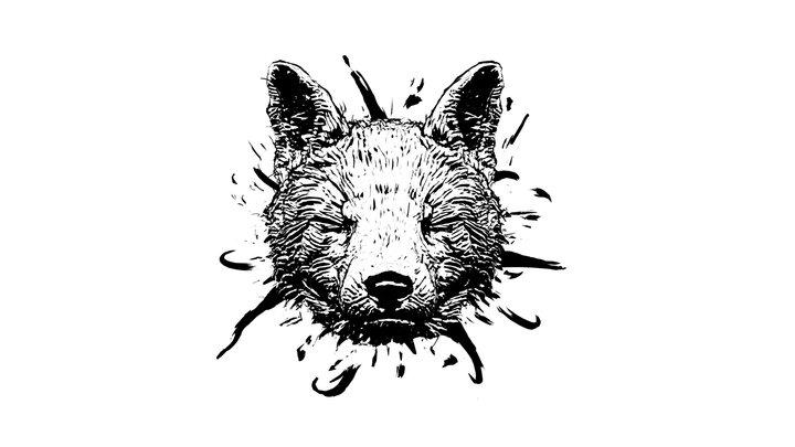 Fox in 3D Ink 3D Model