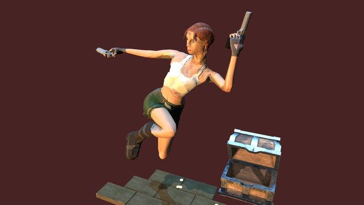 Lara Croft from Tomb Raider 3D Model