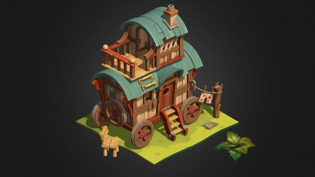 Wagon (caravan) 3D Model