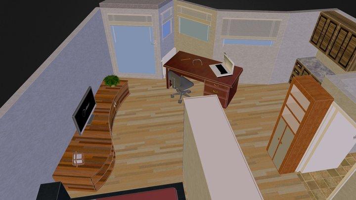 Flat Decorated 3D Model