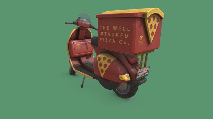 Faggio Pizza Delivery - GTA Vice City 3D Model