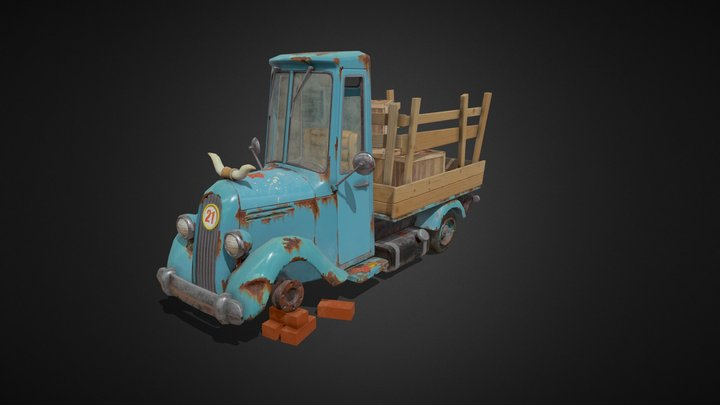 Homework_Pickup_texturing 3D Model