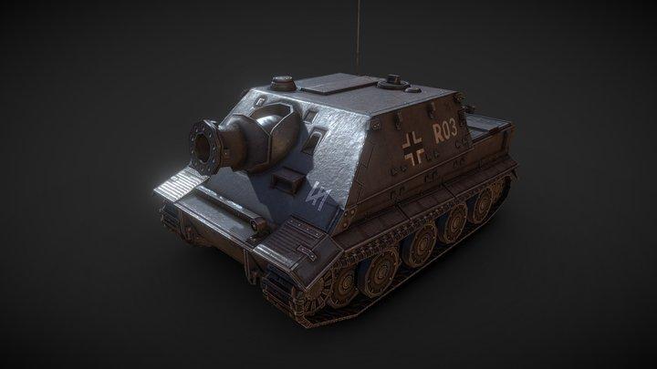 Low poly Sturmtiger assault gun 3D Model
