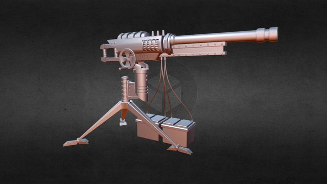 Car Battery Railgun 3D Model
