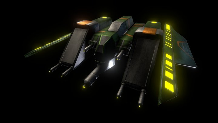 (Commander) Interplanetary Spaceship 3D Model