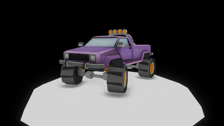 Lowpoly Offroad Car 01 3D Model