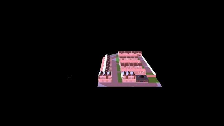 Mock Up Siteplan Permata Zahra 3D Model