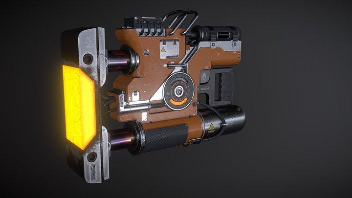 H-AMMER - Sci-Fi Construction Hammer 3D Model
