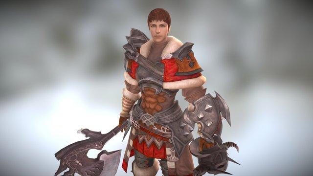 ffxiv Warrior 3D Model