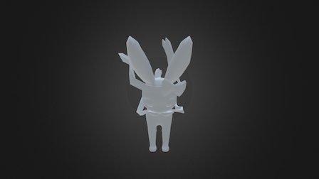 Sylveon - Pókemon X&Y - Personaje Ficticio 3D Model