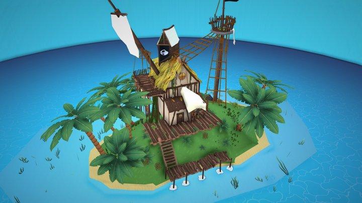 Pirate Island 3D Model