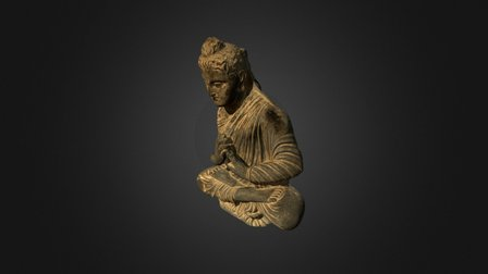 Sitting Buddha 3D Model
