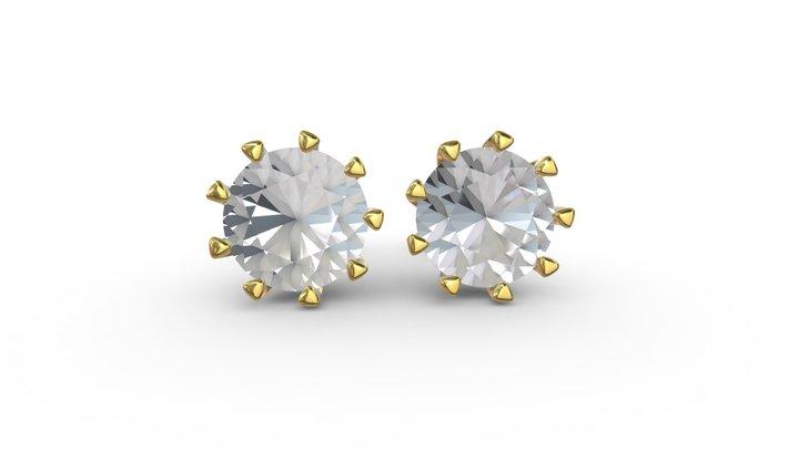 Diamond Earrings 3D Model