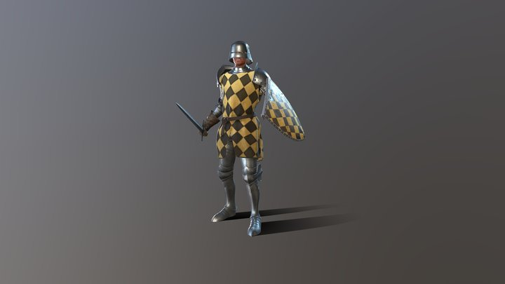 Knights - Plate Armor 3D Model