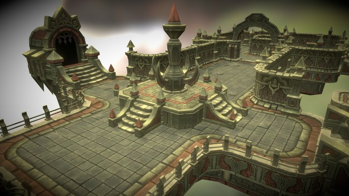Cloudy Dungeon 3D Model