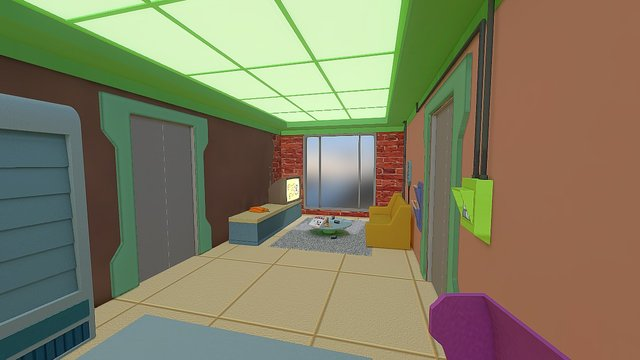 Futurama Room - Archiview by Diego Dneo 3D Model