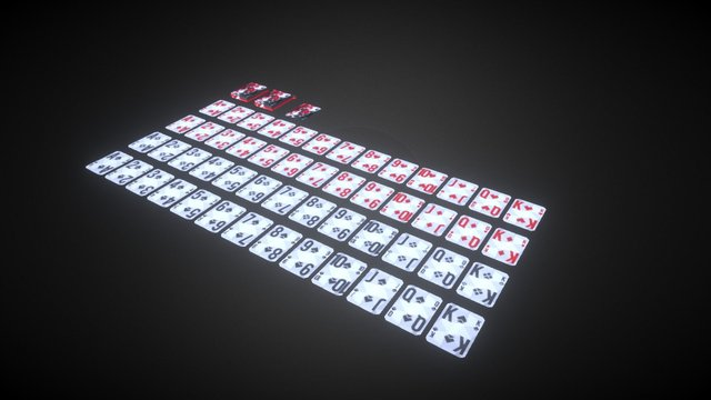 Free Playing Cards 3D Model