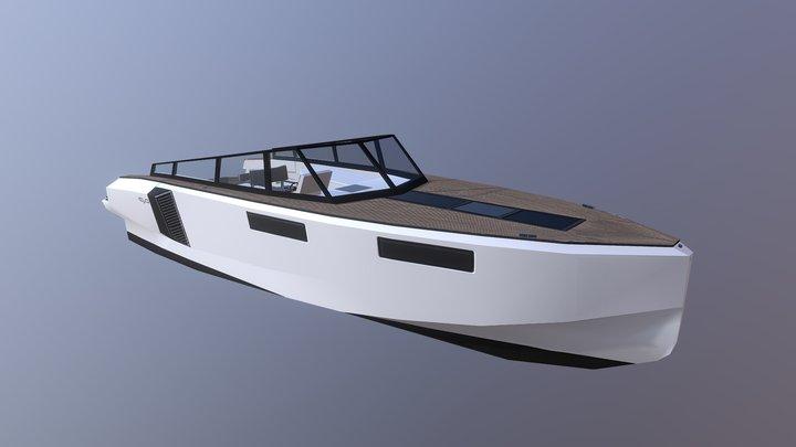 EVO 43 Yacht 3D Model