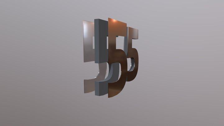 Illustration af corona-bogstav 3D Model