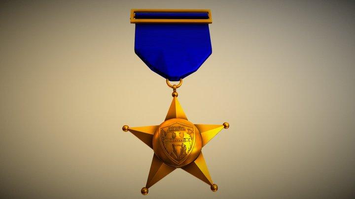 "Medalla Escuela Premilitar ""Lautaro"" 3D Model"