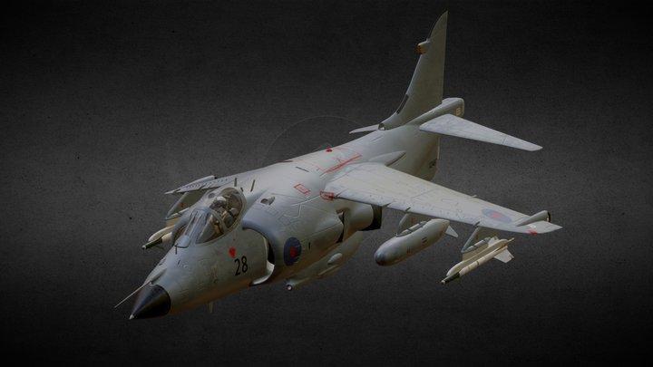 Sea Harrier FRS 1 3D Model