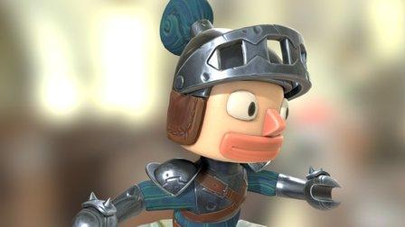 Tome Traveler Knight 3D Model