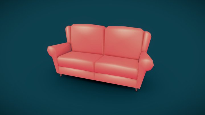 Couch - Household Props Challenge 3D Model