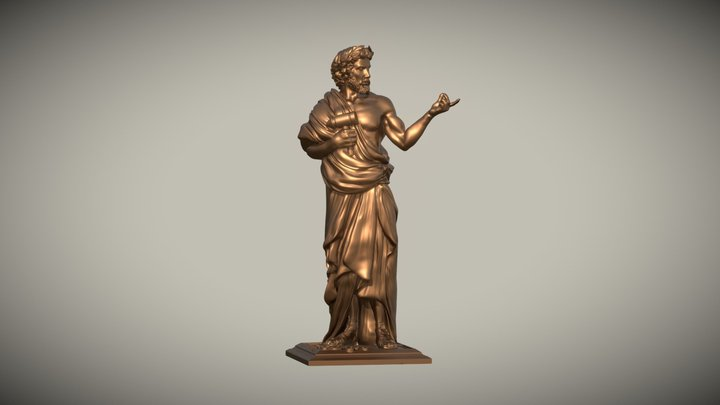 First Player Statue - Foundations of Rome 3D Model