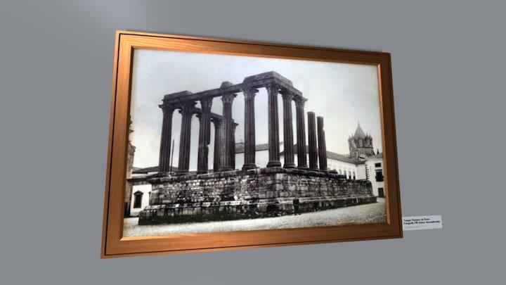 FOTOGRAFIA HISTÓRICA DO TEMPLO ROMANO DE ÉVORA 3D Model
