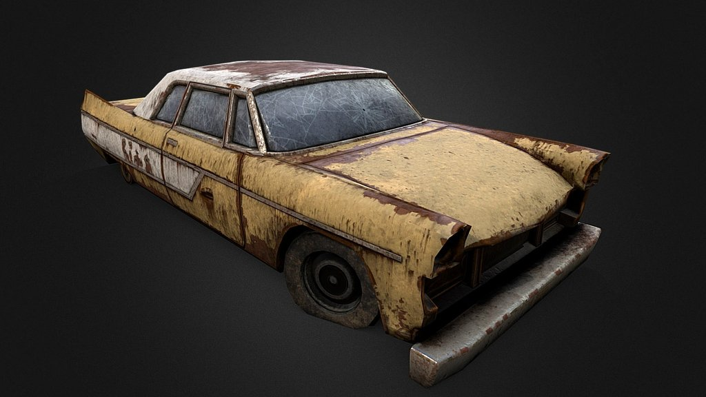 Old Rusty Car 3 - Download Free 3D model by Renafox (@kryik1023