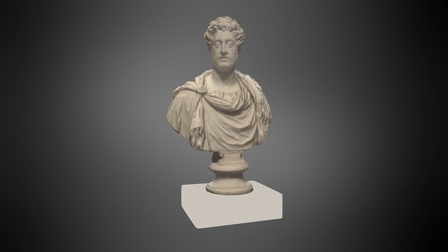 Bust of Emperor Commodus, Getty Villa 3D Model