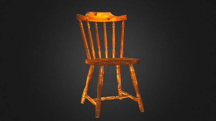 Wooden Chair 3D Scan - Artec Eva 3D Model