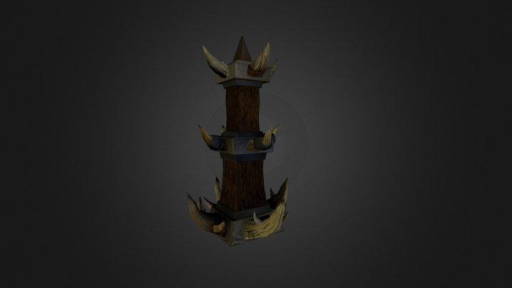 Barbaric pillar 3D Model