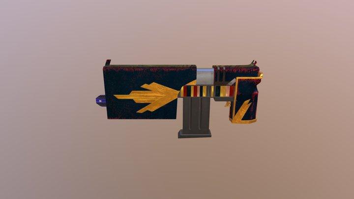 Book Gun 3D Model